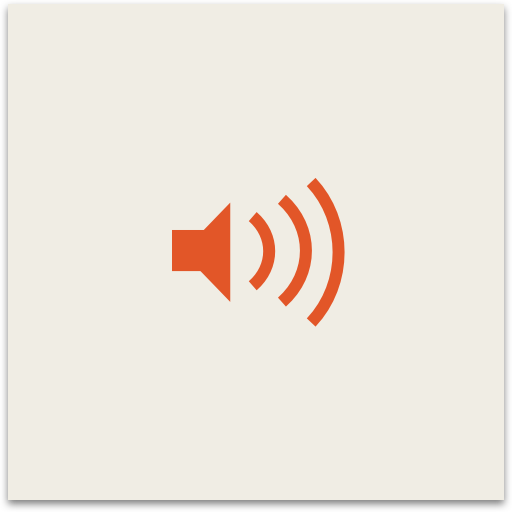 Icon indicating that link leads to an embedded audio file