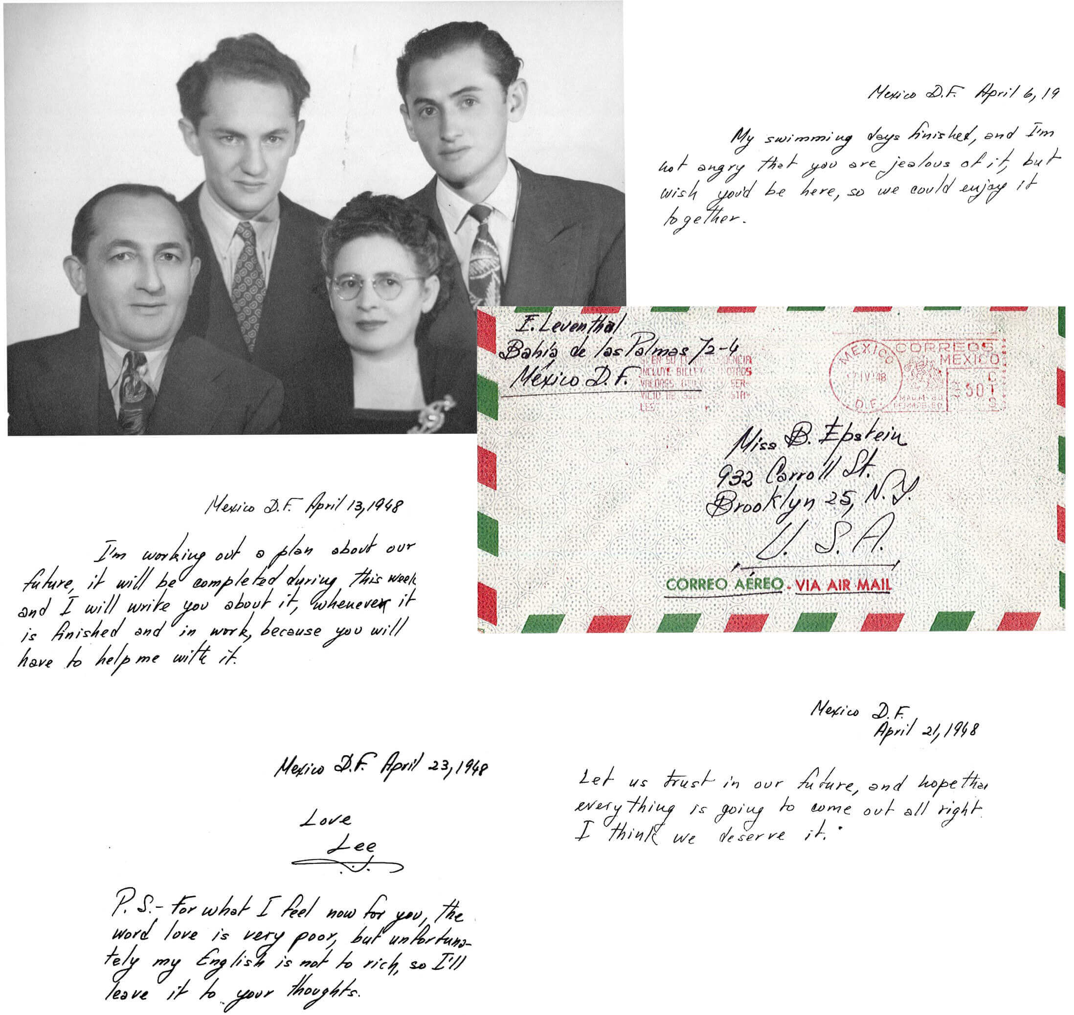 Letters and photos from Elias Lee Leventhal