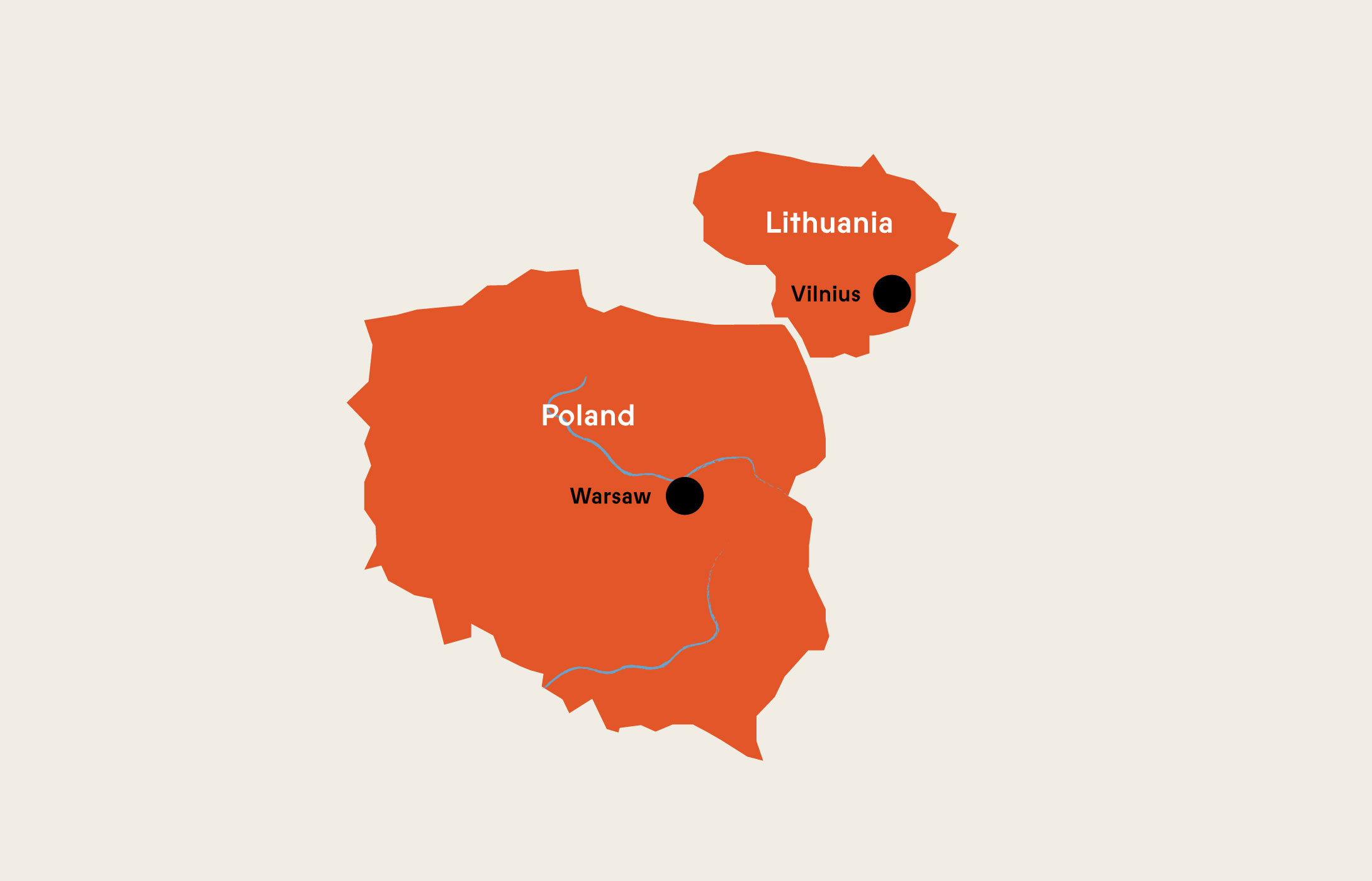 Map of Vilnius today