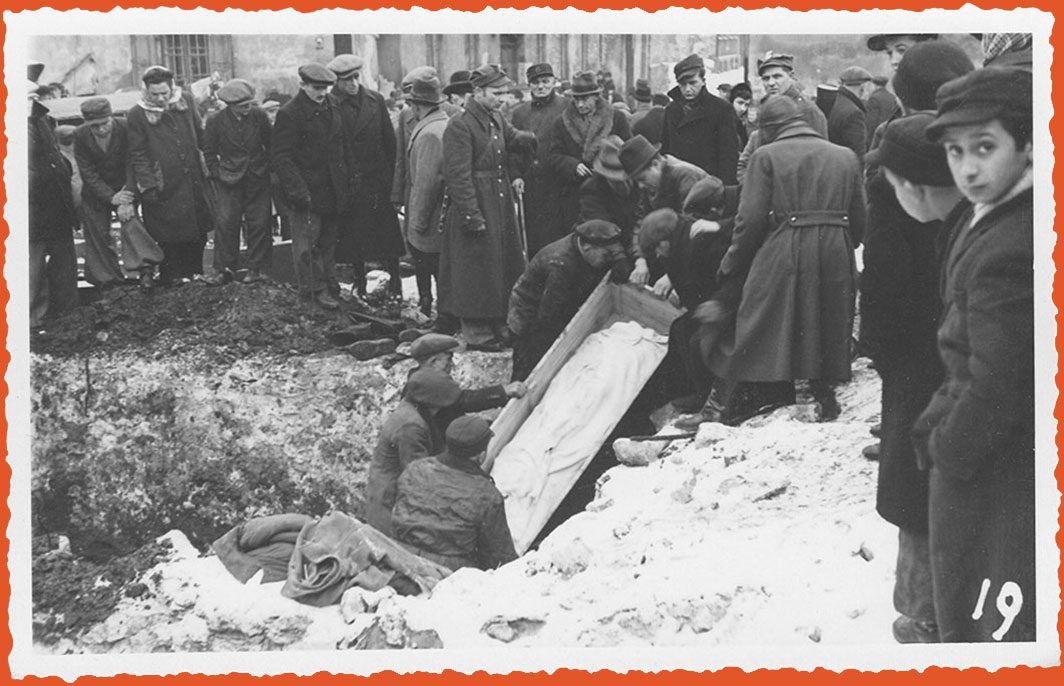 Mass exhumation of grave