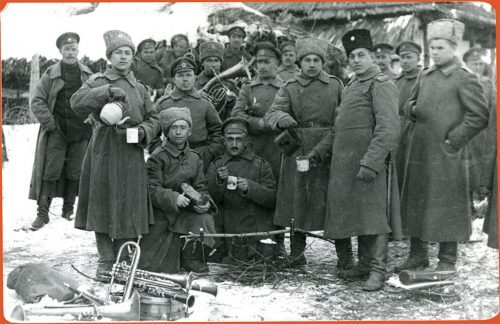 Photographs of soldiers in the Tsarist Army