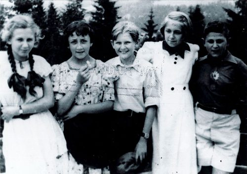 Group of children on vacation