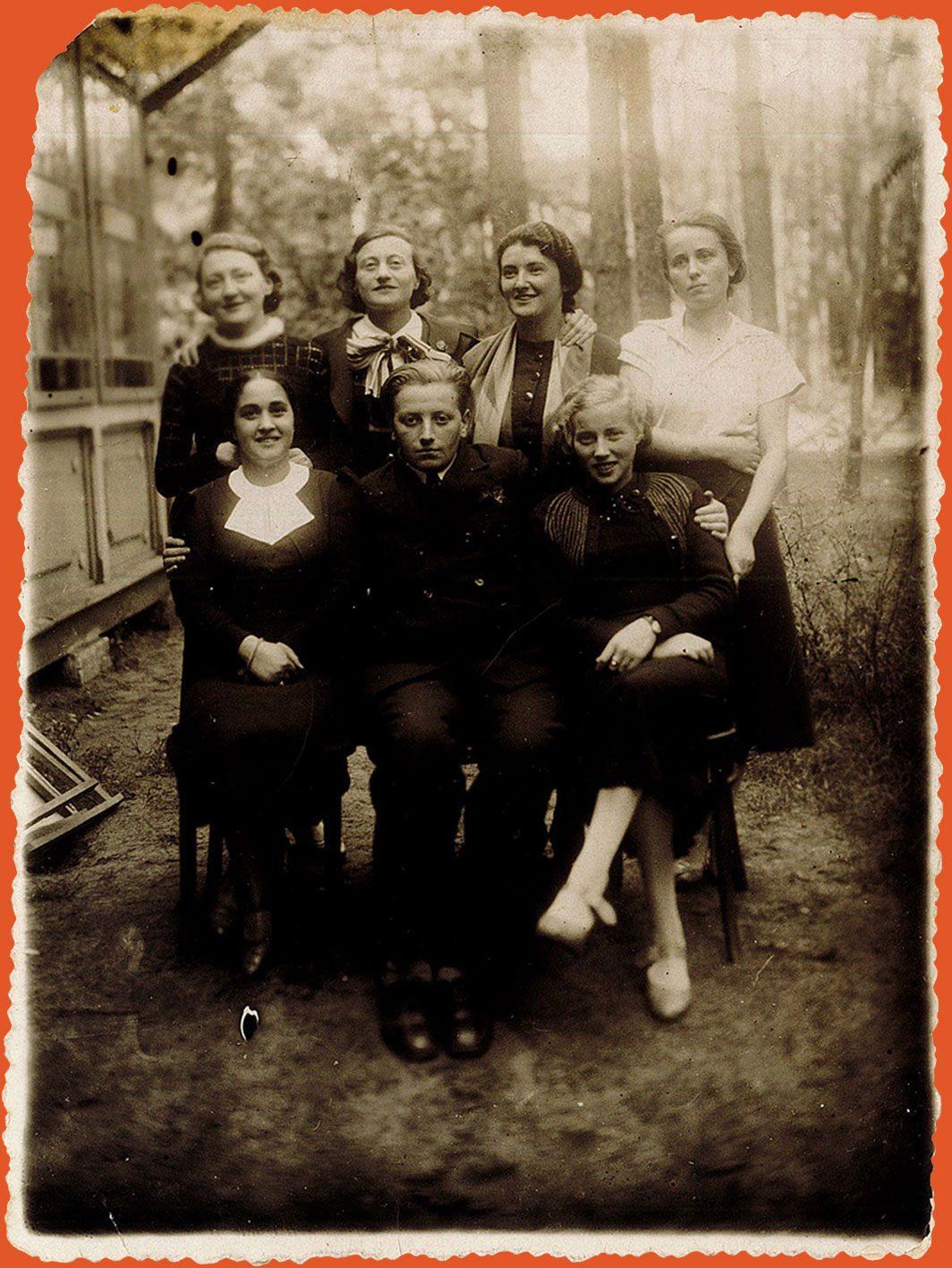 Group portrait taken in the woods