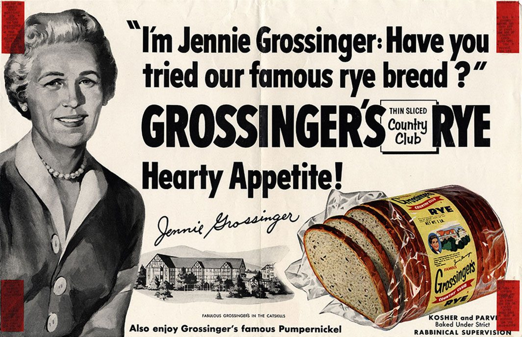 Vintage advertisement for rye bread
