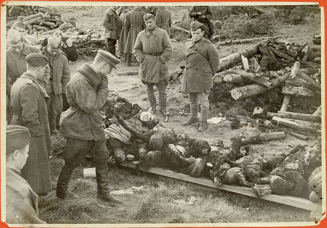 Photograph of corpses at a labor camp