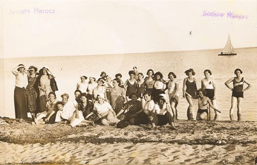 A group of girls on the shore