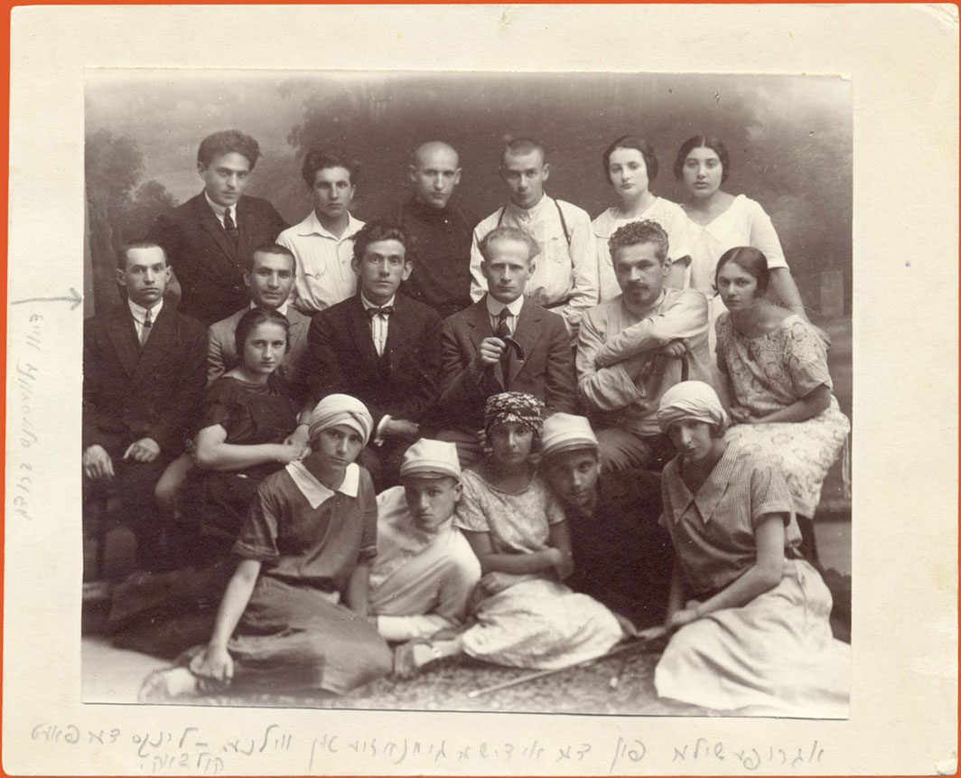 Studio portrait of students and teachers