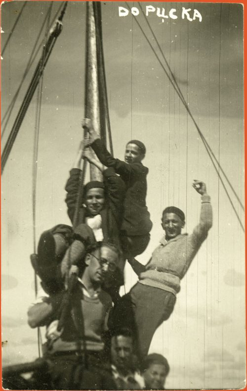 A group of young Jews sailing