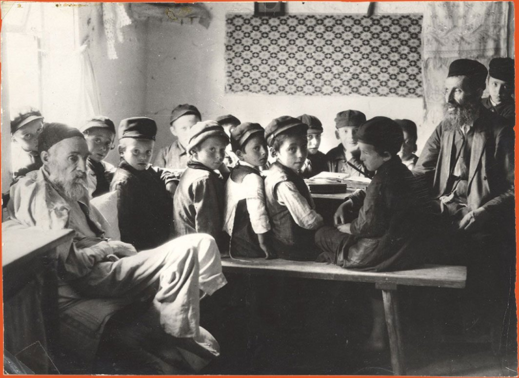 School boys seated in a classroom