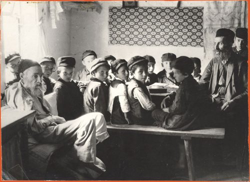 School boys seated in a classroom