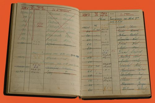Two pages of the logbook